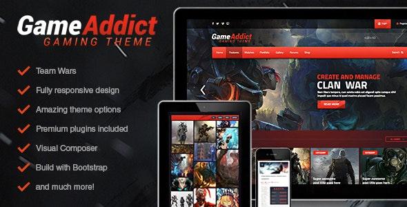 Game Addict - Clan War Gaming Theme - Technology WordPress