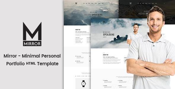 Mirror - Minimal Portfolio HTML Template - Portfolio Creative