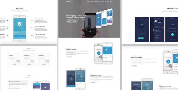 Decades - Responsive App Landing Template - Technology Site Templates