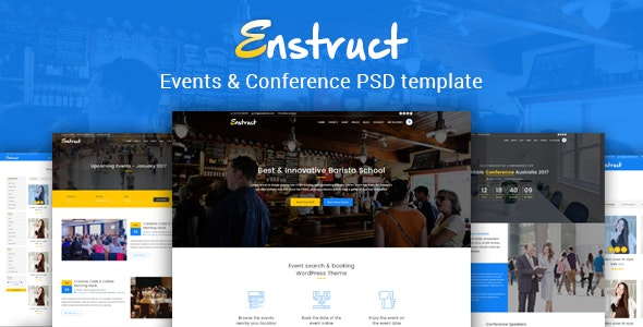 Enstruct - Events & Conference PSD Template - Events Entertainment
