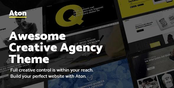 Aton - Modern Creative Design Agency Theme - Portfolio Creative
