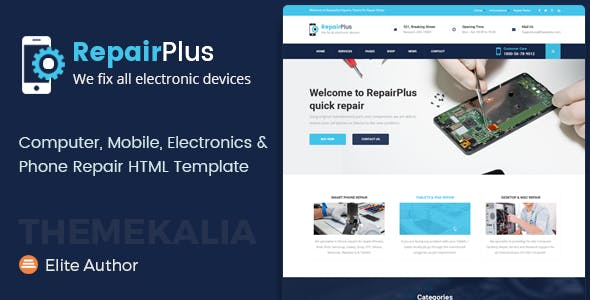 Repair Plus - Electronics and Phone HTML Template