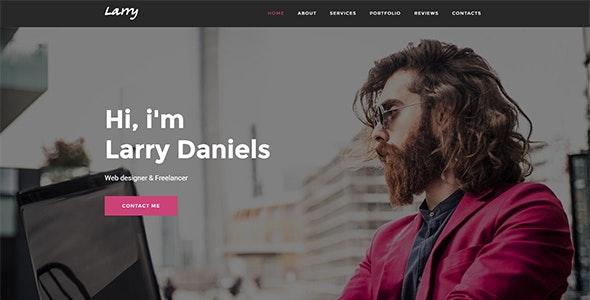 Larry. - Personal Onepage WordPress Theme - Personal Blog / Magazine