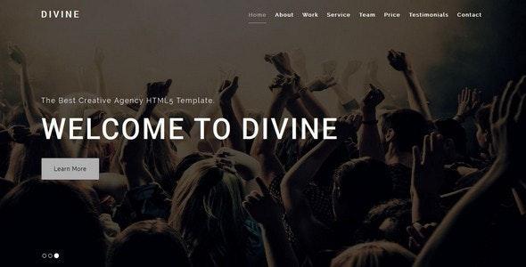 DIVINE-Creative HTML5 Template - Creative Site Templates