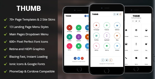 Thumb Mobile - Mobile Site Templates