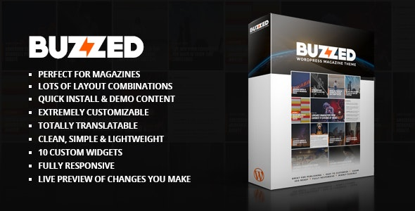 Buzzed Magazine Theme - Blog / Magazine WordPress