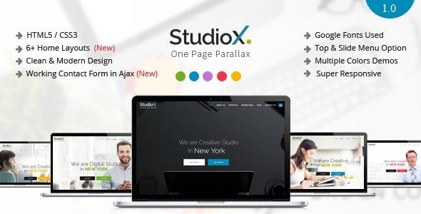 StudioX - One Page Parallax Joomla Template - Creative Joomla
