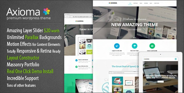 Axioma | Responsive WP Theme for SEO and Web-design Agencies - Business Corporate