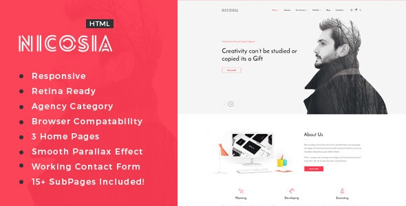 Nicosia - SEO /Digital Agency HTML5 Template - Portfolio Creative