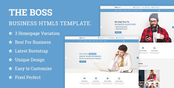 The Boss- Corporate & Business HTML Template - Business Corporate