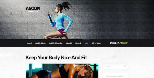 Aegon - Responsive Gym/Fitness Club WordPress Theme