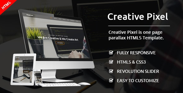 Creative Pixel - One Page Agency Template - Creative Site Templates