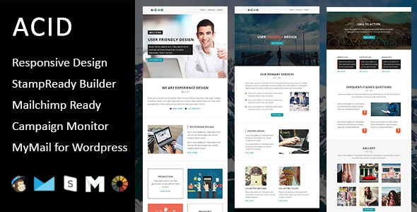 Acid - Multipurpose Responsive Email Template + Stampready Builder - Email Templates Marketing