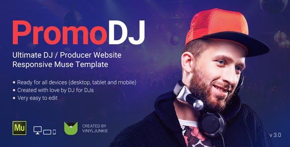 PromoDJ - DJ / Producer / Musician Website Responsive Muse Template