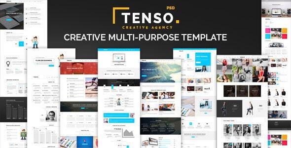 Tenso - Creative Multi-Purpose PSD Template - Portfolio Creative