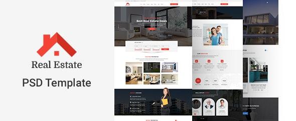 Real Estate PSD Template - Corporate Photoshop