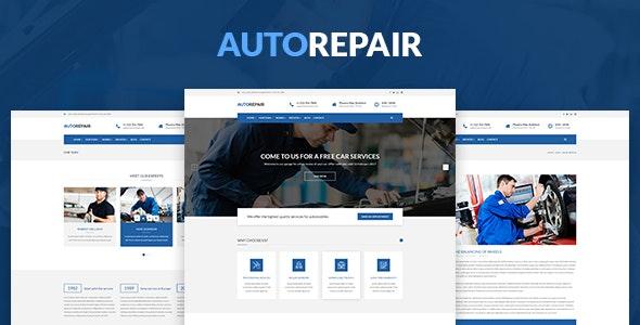 AutoRepair – Car Mechanic – PSD Template for Mechanic Workshop - Business Corporate