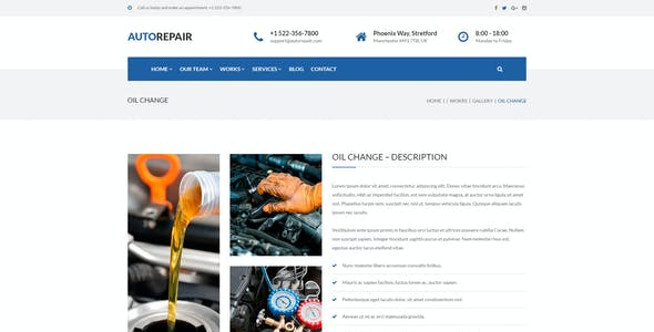 AutoRepair – Car Mechanic – PSD Template for Mechanic Workshop