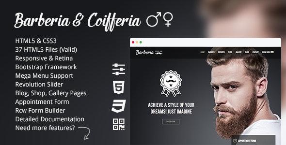 Barberia | Barber Hair Salon Responsive Template - Health & Beauty Retail