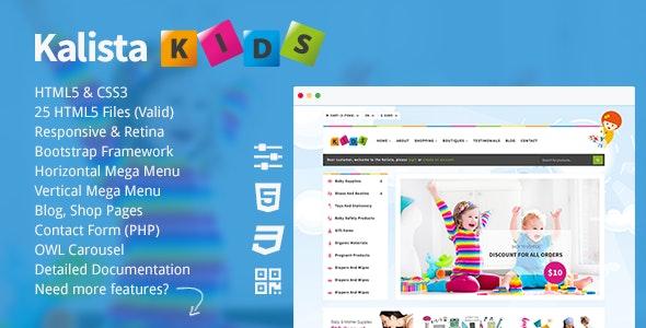 Kalista - Kids, Toys Store Responsive Site Template - Shopping Retail