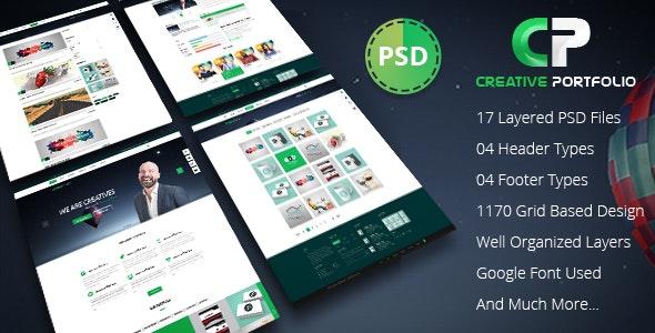 Creative Portfolio PSD Template - Portfolio Creative