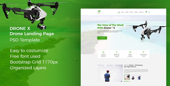 Drone X - Product Landing Page - Electronics Technology