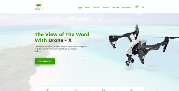Drone X - Product Landing Page