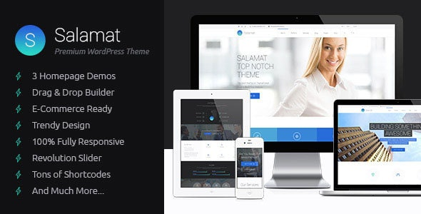 Salamat - Multipurpose WordPress Theme - Business Corporate