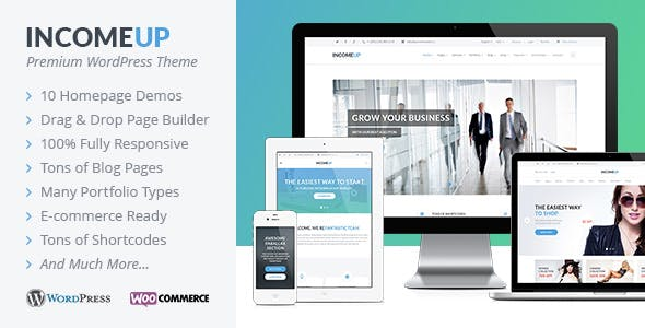 IncomeUp - Multipurpose WordPress Theme