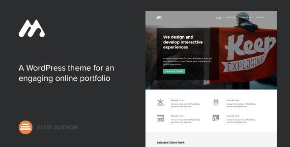 Meth - A Minimal One Page Portfolio Theme - Portfolio Creative