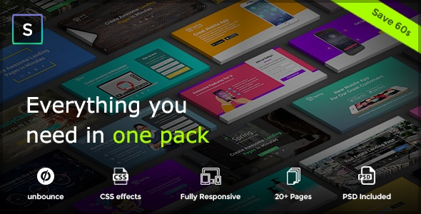 Spring - Multipurpose Unbounce Pack - Unbounce Landing Pages Marketing