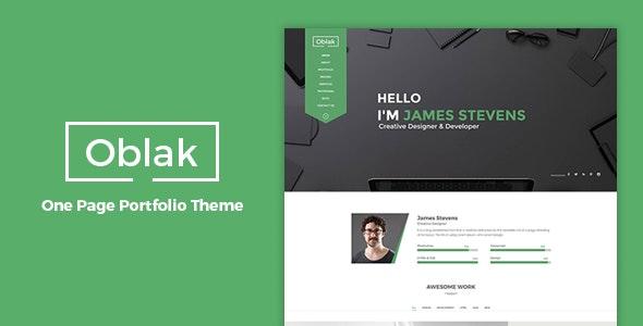 Oblak - Personal Portfolio WP Theme - Portfolio Creative