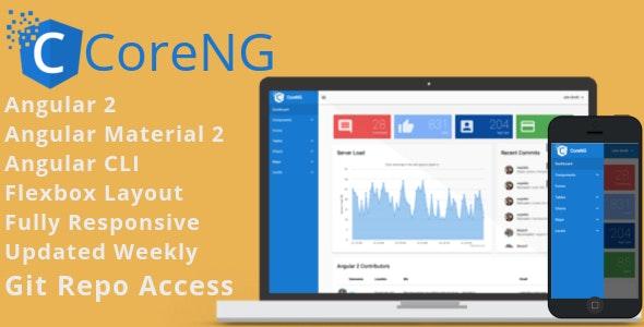 CoreNG - Angular 4 Material Design Admin Template by