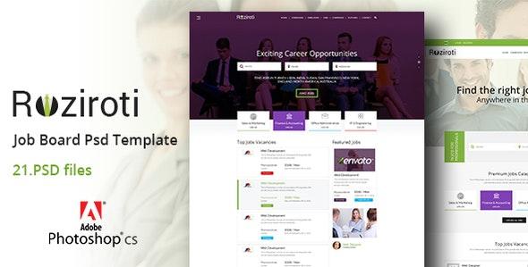 Rozi Roti Job Board PSD Template - Business Corporate