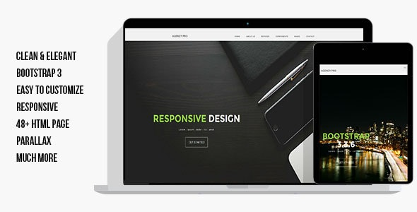 AgencyProHTML - Technology Site Templates