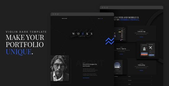 Violin Dark - Portfolio HTML5/CSS3 Template - Portfolio Creative