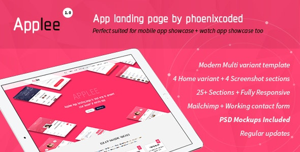 Applee App Landing Page HTML Version - Apps Technology