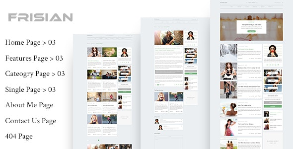 FRISIAN - Magazine & Blog PSD Template - Creative Photoshop