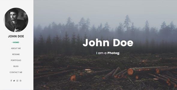 White Space Personal Portfolio & Resume Template