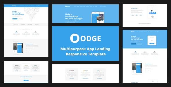 dodge elementary landing page DODGE - Multipurpose App Landing Page Template