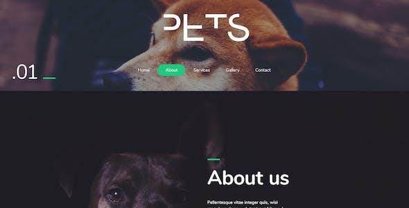 Pets - Modern PSD Template