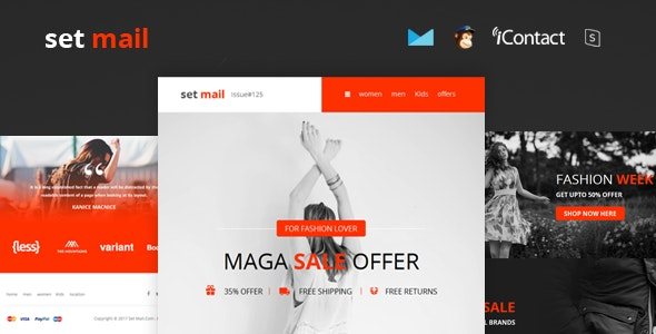 Set Mail - Responsive E-mail Template + Online Access - Email Templates Marketing