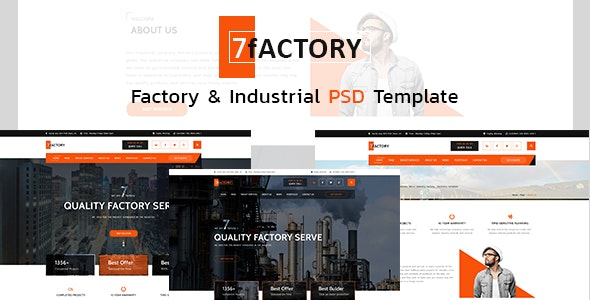 7fACTORY - Industrial & Manufacturing PSD Template - Corporate Photoshop