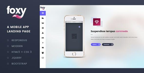 Foxy App Landing Page Template