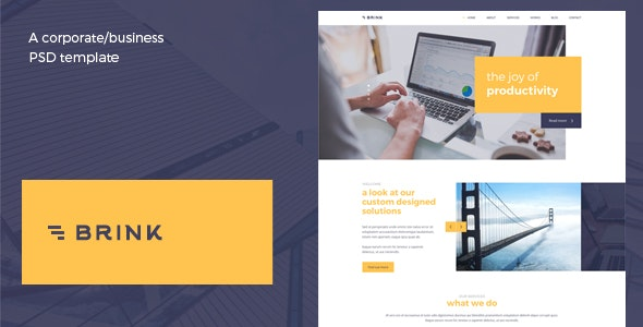 Brink - Creative Business PSD Template - Corporate Photoshop