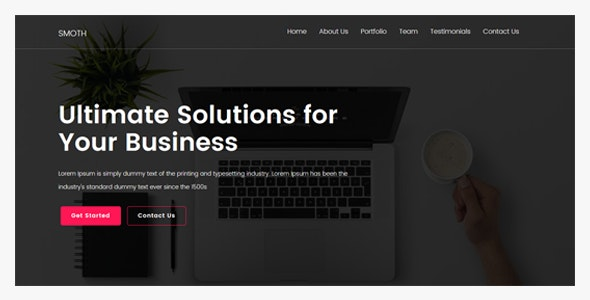 Smoth - One Page MultiPurpose Template - Creative Site Templates
