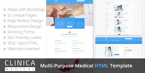 Clinica | Medical HTML Template - Health & Beauty Retail