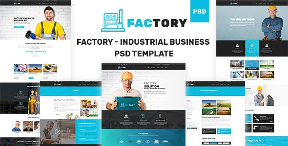 Factory - Industrial Business PSD Template