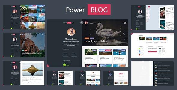 PowerBlog - A Special Concept AJAX Template