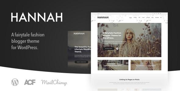 Hannah CD - Lifestyle & Fashion Blog Theme for WordPress - Personal Blog / Magazine